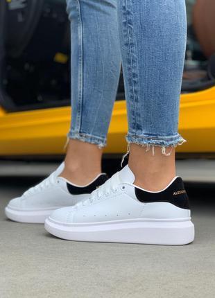 Стильные кроссовки 🔥alexander mcqueen black white🔥
