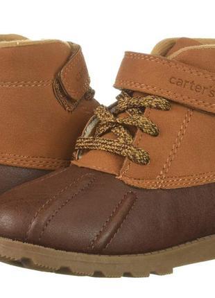 Ботинки детские carters us 6 7 9 eur 22 23 25 картерс