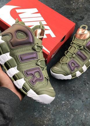 Стильные кроссовки 🔥 nike air more uptempo green 🔥
