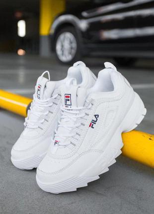 """Стильные кроссовки 🔥 fila disruptor 2 """"white""""  🔥"""