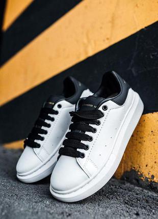 """Стильные кроссовки 🔥 alexander mcqueen """"white/black""""  🔥"""