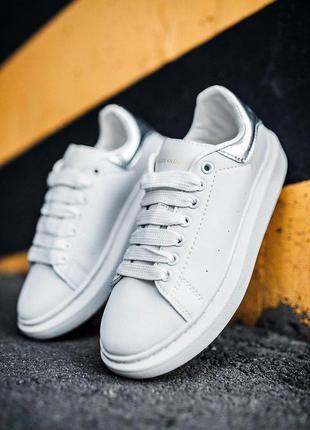 "Стильные кроссовки 🔥 alexander mcqueen ""white/silver"" 🔥"