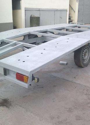 Двухосный прицеп для перевозки автомобилей на эвакуаторе или а...