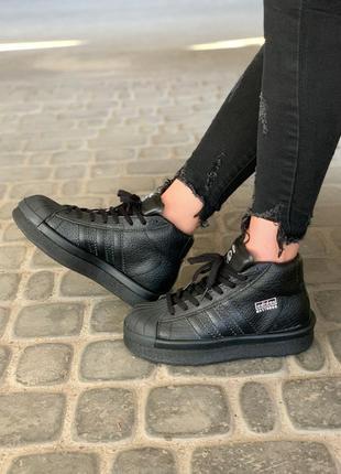 Стильные кроссовки 🔥 adidas x rick owens triple black 🔥