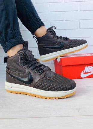 Стильные кроссовки 🔥 nike lunar force 1 duckboot brown/black 🔥