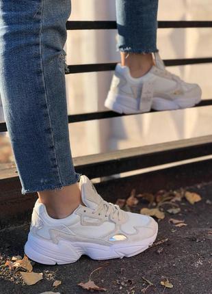 Стильные кроссовки 🔥 adidas falcon   full white 🔥