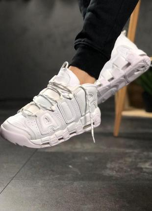 Cтильные кроссовки 🔥 nike air more uptempo white on white 🔥