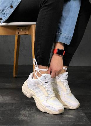 Стильные кроссовки 🔥 adidas x naked magmur runner cream white 🔥