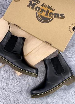 Стильные ботинки 🔥 dr martens chelsea black 🔥 на меху , зима