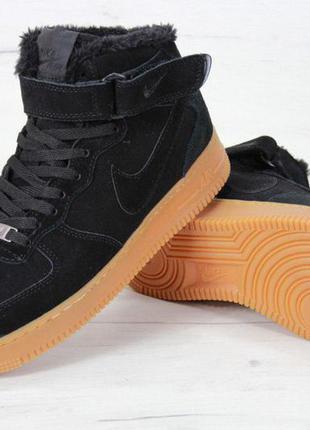Стильные кроссовки 🔥 nike air force 🔥 на меху зима