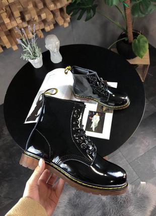 Стильные ботинки 🔥  dr martens 1460 black lacquered 🔥