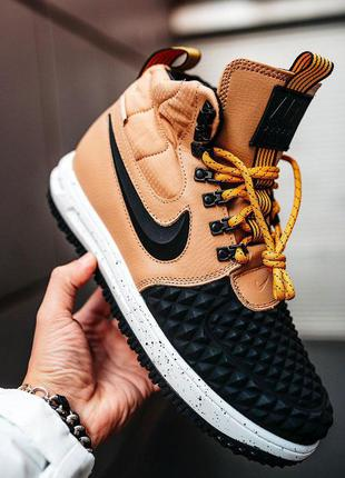 "Стильные кроссовки 🔥 nike lunar force 1 duckboot ""black/beige""🔥"