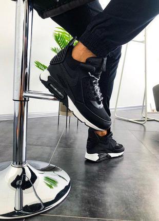 "Стильные кроссовки 🔥 nike air max 90 sneakerboot ""black""🔥"