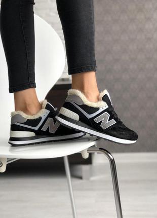 Стильные кроссовки 🔥 new balance 574 winter 🔥 с мехом