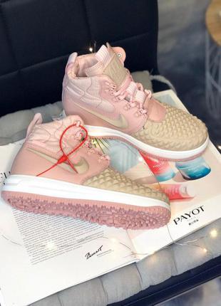 Стильные кроссовки 🔥 lunar force 1 duckboot pink 🔥