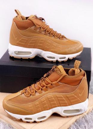 Крутые кроссовки 🔥 nike air max 95 sneakerboot brown❄️