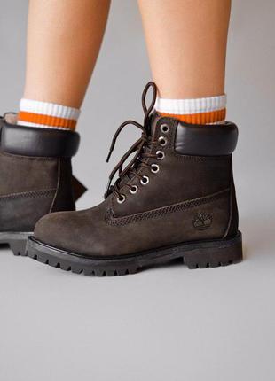 Стильные ботинки 🔥 timberland brown🔥 на меху