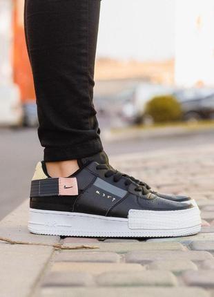 Стильные кроссовки 🔥 nike air force black low🔥