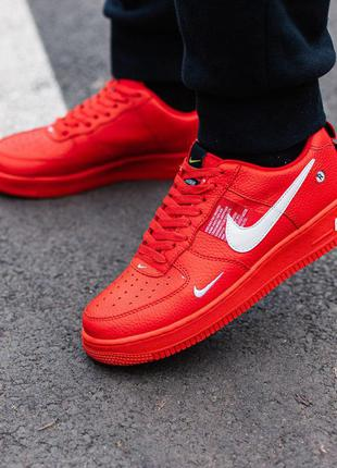 Стильные кроссовки 🔥 nike air force 1 red🔥