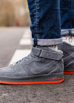 Стильные кроссовки ❄️ nike air force winter grey❄️на меху
