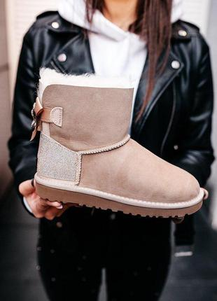 Крутые уги ❄️ ugg mini bailey bow❄️ на овчине
