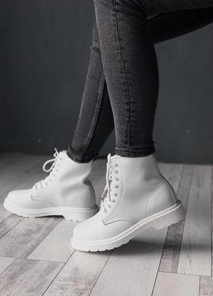 Стильные ботинки 🔥 dr. martens 1460 white 🔥