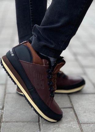 Стильные кроссовки ❄️ new balance 754 brown❄️ на меху