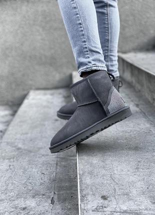 Ugg bailey bow mini женские уги на овчине