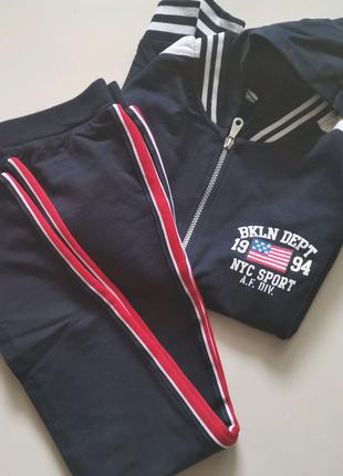 спортивный костюм брюки кофта на для мальчика iDo 152 темно-синий