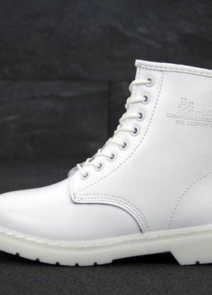 Dr. martens 1460 mono white стильные ботинки