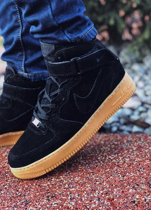 Nike air force зимние кроссовки на меху