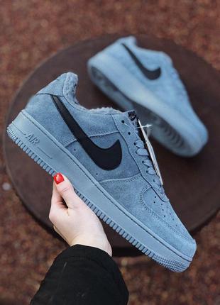 Nike air force winter grey зимние кроссовки на меху