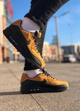 Nike air max 90 gold стильные кроссовки