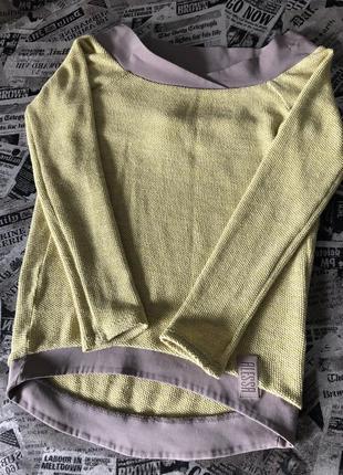 Лимонный котоновый свитер