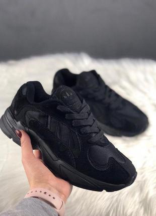 Adidas yung 1 full black стильные кроссовки