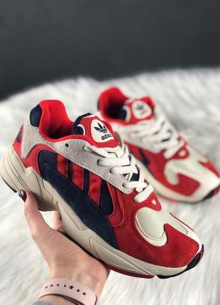 Adidas yung 1 red white стильные кроссовки