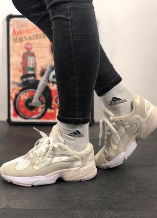 Adidas yung 1 white grey стильные кроссовки