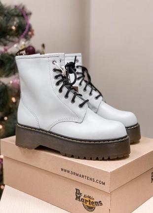 Dr. martens jadon white cтильные демисезонные ботинки