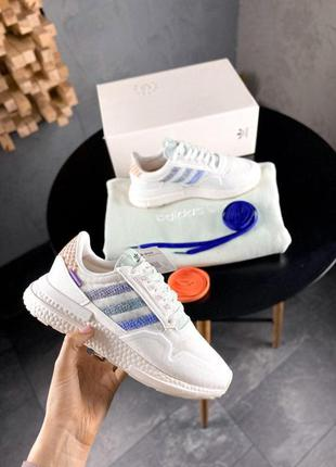 Adidas zx 500rm x commonwealth white стильные кроссовки
