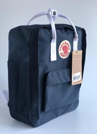 Fjallraven kanken classic black & white стильный рюкзак