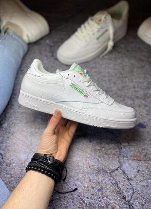 Reebok club c 85 стильные кроссовки