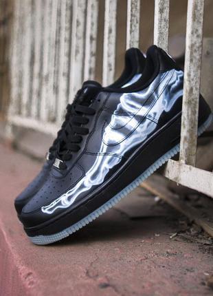 Cтильные кроссовки nike air force qs black
