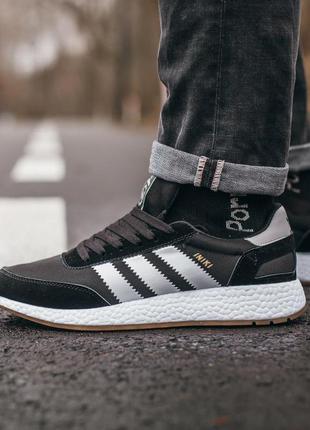 Cтильные кроссовки adidas iniki black\white