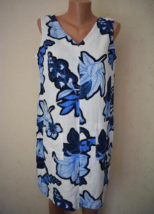 Красивое льняное платье с принтом next