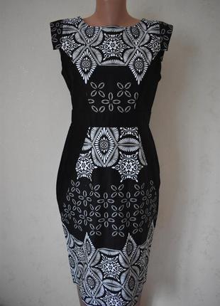 Красивое натуральное платье с принтом dorothy perkins