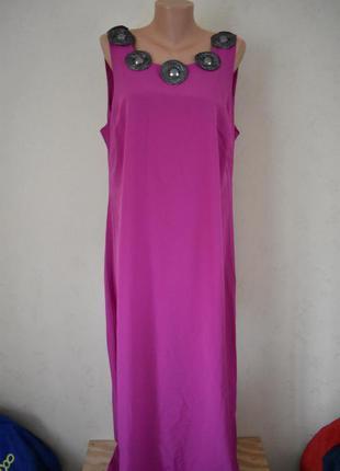 Новое красивое платье с украшением большого размера
