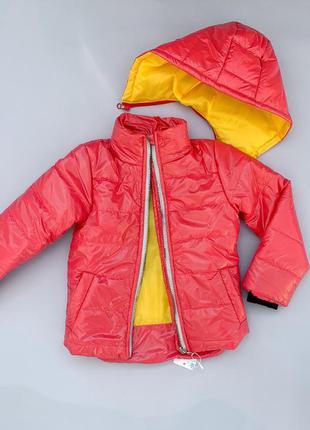 Демисезонная куртка с отстежным капюшоном