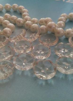 Пуговицы jablonex прозрачные стеклянные чехословакия