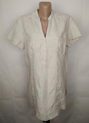 Блуза туника натуральная льняная с карманами большой размер ma...