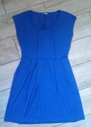 Летнее платье василькового цвета